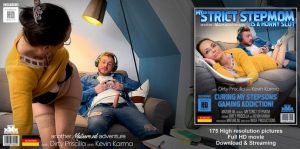 Dirty Priscilla (EU) (48) – Horny MILF tries to cure her stepsons gaming addiction