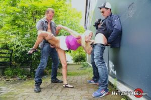 Dirty Tina has multiple orgasms, blows the cocks and rides the boys properly